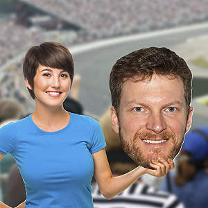 Big Head cut out of Dale Earnhardt Jr from Fathead